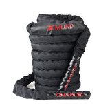 XMUND XD-BR1 バトル ロープ エクササイズ トレーニング ロープ 30フィートの長さのワークアウト ロープ フィットネス ストレングス トレーニング ホーム ジム アウトドア カーディオ ワークア