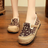 Women Linen Handmade Espadrille Comfy Wearable Casual Loafers