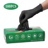 100 Pcs Luvas de Látex Descartáveis Limpeza Trabalho Luvas de Dedo Látex Alimentos de Proteção Em Casa Para Segurança Preto