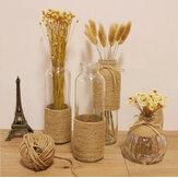 ZAKKA пеньковая веревка стеклянная ваза цветок бутылки украшения цветок стебель засушенные цветы ваза