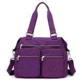 Nylon Large Capacity Lightweight Multi-pocket Crossbody Bag