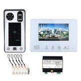 ENNIO SY828F2JRW11 7 polegadas BUS 2 Fio Sistemas de intercomunicação de vídeo porteiro por impressão digital para casa com 1 campainha Câmera 1 monitor Visão noturna
