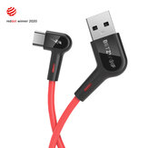 Blitzwolf® BW-AC1 3A 90°Right Angle USB A to Type-C Data Cable 1.8m Reddot Award 2020 for Gaming Phone for Samsung S20 HUAWEI