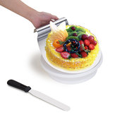 28cm Rotating Cake Icing Decorating Revolving Display Stand Turntable Smoother