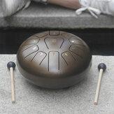 10'' Steel Tongue Drum 11 Notes Handpan Drum Tankdrum Instrument + Bag & Mallets