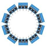 100pcs 5m m KF-301 3 bloques Tornillo terminal del montaje del PWB del perno NF Conector