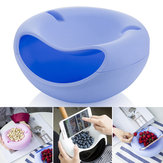 Plastic Fruit Dish Multifunctional Double Layer Candy Plate Peels Shells Round Storage Baskets