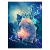 5D DIY Diamond Painting Lovely Cat Art Hand Craft Kit Handmade Wall Decorations Gifts for Kids Adult