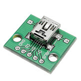 10st USB naar DIP Female Head Mini-5P Patch om DIP 2.54mm Adapter Board te DIP