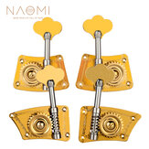 NAOMI Upright Bass Single Tuner Machine Bass Pegs Brass Material 4/4 3/4 Contrabaixo Tuning Pegs SET