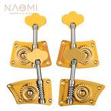 NAOMI Upright Bass Single Tuner Machine Bass Pegs Brass Material 4/4 3/4 Double Bass Tuning Pegs SET