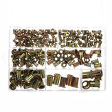220Pcs Rivnut Rivet Nut Kit Round Head M3 M4 M5 M6 M8 M10 M12 Kit Set ABS Case
