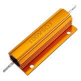 3 pz RX24 100 W 8R 8RJ Custodia in alluminio in metallo Resistore ad alta potenza Custodia in metallo dorato Custodia Resistore di resistenza dissipatore di calore