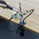 Desk Clamp Helping Hands Soldering Third Hand Tool with Aluminum Base PCB Holder