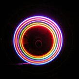 XANES WL03 2PCS 5 LED 7 modos 6 Baterías Bicicleta Colorful boquilla de luz de rueda luz de radios