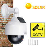 Bakeey CCTV Dummy Camera Solar Power Video Surveillance Outdoor Fashing Red LED Simulation PTZ Battery Security Dome Cam
