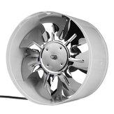 220 V 4/6/8/10 İnç Inline Kanal Fan Booster Egzoz Fan Hava Soğutma Havalandırma Beyaz