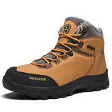 Men Outdoor Comfy Non Slip Wearable Plush Warm Winter Hiking Boots