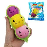 Colorful Pea Doll Charm Squishy 15cm Lento aumento con confezione regalo regalo Soft Toy