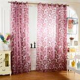 Honana WX-C7 Multiple Colors Semi-blackout Sheer Curtains Panel Window Blind Purple Curtains Home Decor