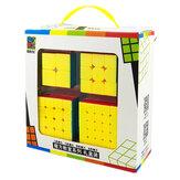 Moyu4個/セットマジックキューブ2x2x23x3x3 4x4x45x5x5ステッカーレスゲームパズルキューブ教育玩具ギフトセット
