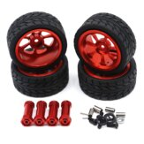 Wltoys 144001 RC Car Tire+Hub Wheel Vehicle Models Parts