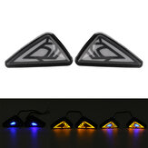12V LED Motorcycle Triangle Flowing Turn Signals Lights Indicator Blinkers
