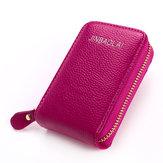 النساءالرجالجلدطبيعيمحفظة10 فتحات بطاقة عملات حقيبة