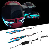 Shark Style Moto Casco Light Strip LED Night Signal Light Stripe Glowing