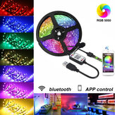 5V USB LED Luces de tira 5050 RGB Bluetooth APP Control Regulable TV Iluminación posterior Tiras inteligentes