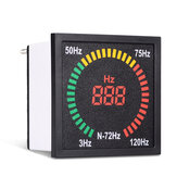 N-72HZ 3~120Hz 68mm Hole Size Digital Frequency Meter 73mm Square Panel LED Display Electrical Hertz Tester Indicator