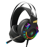 LUYS K3 Game Headphone 7.1 Channel 3.5mm USB Com Fio Bass RGB Gaming Headset Stereo Headset de Som com Microfone para PS4 Computador PC Gamer