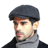 Hombre vendimia Winter Warm Wool Gird Beret Sombrero