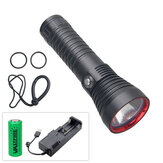 XANES® XHP70 3000LM Underwater 100m Diving Flashlight with 26650 Battery&Charger Lanyard Waterproof Strong Scuba LED Fill Light Dive Light