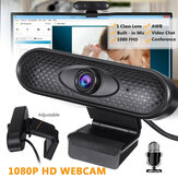 1080P HD Webcam PC USB Camera Video Recording w/ Microphone For Desktop Notebook