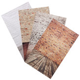 3x5ft 0.9x1.5m grain de bois brique mince photographie studio photo de fond props toile de fond