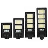347/748/1122/1496 LED Solar Street Light PIR Motion Sensor Outdoor Wall Lamp W/ Remote