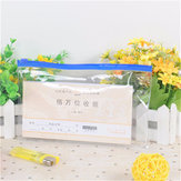 21x13cm Clear Transparent Plastic Pencil Bag PVC Exam Approved Stationery Case
