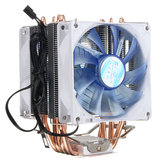 92mm 3 LED Blue LED Copper CPU Cooler Ventilador dissipador de calor para Intel LGA775 / 1156/1155 AMD AM2 / 2 + / 3