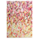 5x7FT Flower Wall Wood Floor Backdrop Photography Prop Photo Studio Background Valentine's Day