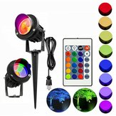 10W RGB LED Flood Spot Light Waterproof Outdoor Garden Landscape Path Lawn Lamp Christmas Decorations Lights AC85-265V