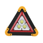 3COB+36 LEDs 1600LM 4 Modes Outdoor Portable Handle Triangle Emergency Lights Car Repair Work Light Flashlight