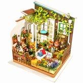 Robotime DG108 DIY poppenhuis miniatuur met meubels houten poppenhuis Toy Decor Craft Gift
