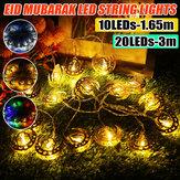 1.65M 3M LED Luz de cuerda de hada de palacio Batería Powered Ramadan Lámpara Party Home Decoration