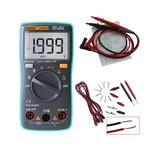 ANENG AN8004 Digital 2000 Counts Auto Range Multimeter Backlight AC/DC Ammeter Voltmeter Resistance Frequency Capacitance Meter + Test Lead Set