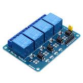 3 stks 5V 4-kanaals relaismodule voor PIC ARM DSP AVR MSP430 blauw Geekcreit voor Arduino - producten die werken met officiële Arduino-boards