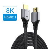 HAGIBIS HDMI 2.1 Videokabel 8K / 60Hz 4K / 120Hz 48Gbps Hoge Snelheid Digitale Kabels voor HDTV's PS5 Switch XBox Projectoren