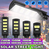 160/320/480/640COB LED Solar Street Light PIR Motion Sensor Outdoor Wall Lamp With Remote Control