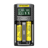 NITECORE UM2 / UM4 LCD Display 5V / 2A Litio Batteria Caricatore Caricatore rapido USB QC Smart per AA AAA 18650 21700 26650
