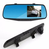 HD 4.3 Inch Dual Lens Recorder Mirror Vehicle DVR Dash Cam Car Rear View Camera